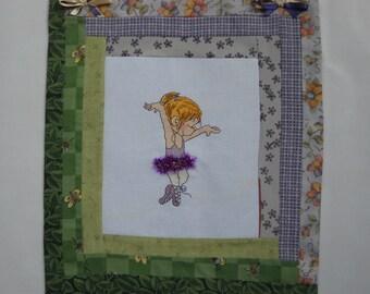 Cross stitch Panel ballerina girl