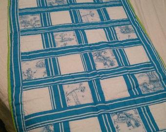 Handmade crib size quilt