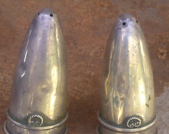 Vintage sterling silver Salt and Pepper Shakers from Israel 50's