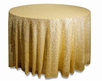 """120"""" Round Grand Duchess Sequin Tablecloth"""