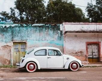 Fine Art Print Photo Volkswagen Bug in Mexico on 35mm FILM! Volkswagen, Volkswagen Bug, Vintage Bug, VW Bug