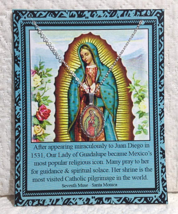 Lady of Guadalupe Charm Necklace on Story Card