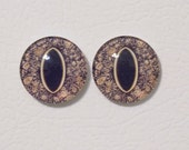 16mm Frog/Toad Flat Backed Glass Eyes - 1 pair - Narrow Pupil - item #10C