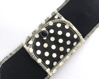 Over Night Moonpads Organic Cotton Reusable Washable Cloth Menstrual Pads - Polka Dots