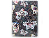 Passport cover - Sugar Skull Butterflies - calaveras passport holder - spooky cute day of the dead travel accessory - gift for traveler