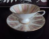 Beautiful Mid Century Modern Teacup - Saucer Set
