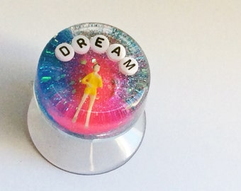 MADE TO ORDER: Inspirational Bathroom Decor - Dream, Shower Art, Waterproof Art, Geekery Geek, Inspirational Wall Art, Great Gift for Her