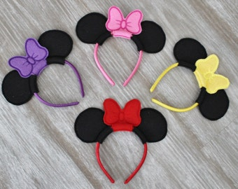 "Mouse Ears Headband for 18"" Doll, 18""doll Ears with Bow, Easter Basket Filler"