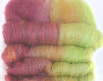 handcarded batts spinning fiber 4.1 oz