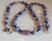Amethyst Necklace with Jasper Stones and a Sterling Silver Clasp, Smokeylady54