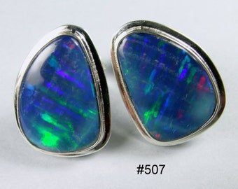 Australian opal earrings.
