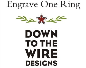 Inside Ring Engraving -- for One Ring