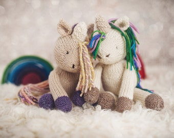 PATTERN Rainflower Unicorn knitting knitted toy