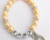 Ballet Bracelet Ballet Themed Personalized Bracelet, Name Bracelet Ballet Shoe Charm Bracelet Dance Recital Gift  Free Shipping In USA