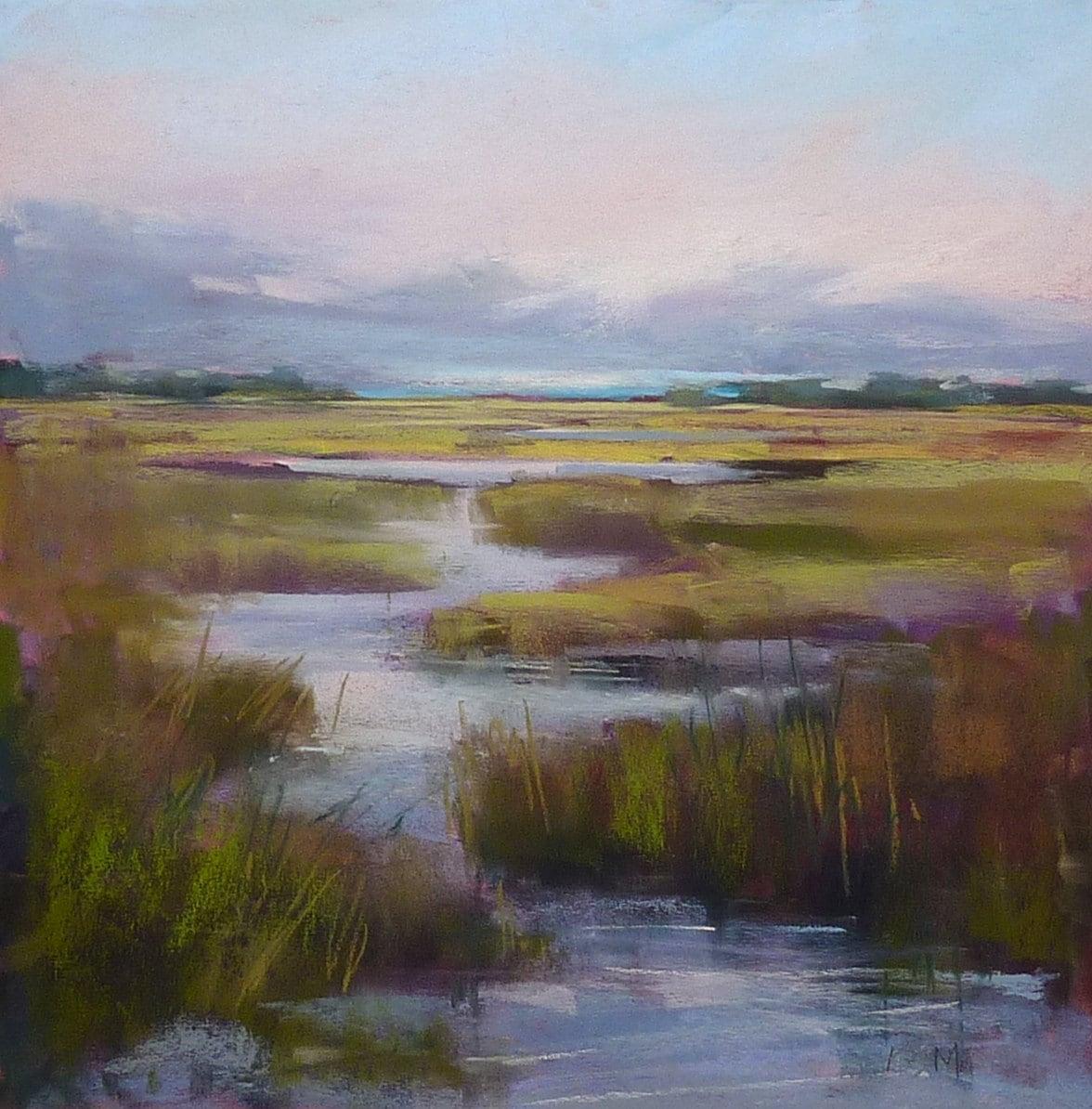 South Carolina Lowcountry Marsh Landscape Original Pastel