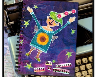 Her favorite color is sparkle. -NOTE BOOK