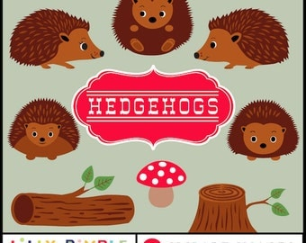 50% off Hedgehog clipart, hedgie, cute hedgehogs, commercial use, woodland, forest, invites, cards, instant download