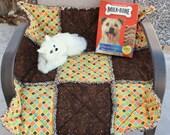 Dog Blanket, Brown Dog Blanket, Dog Bed, Small Dog Bed, Luxury Dog Bed, Quilts for Dogs, Dog Travel Bed, Dog Crate Mat, Large Cat Blanket
