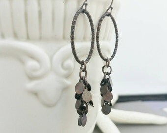 Bronze Metal Drop Earrings, Metal Earrings, Drop Earrings, Brown Earrings