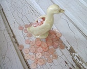 buttons light peachy pink new vintage set of 50