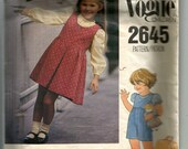 Vogue Children's Jumper or Jumpsuit and Blouse Pattern 2645