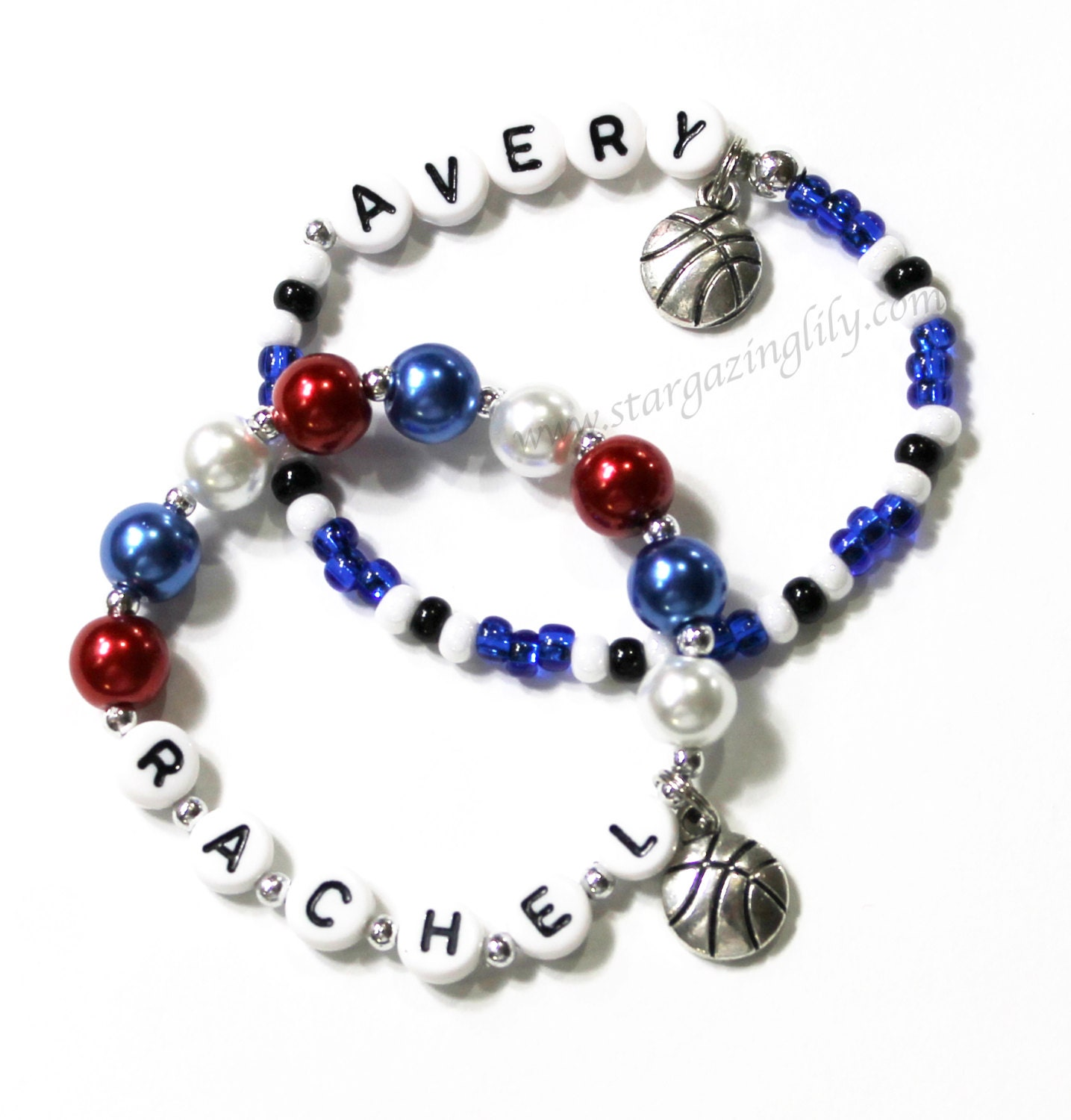 Basketball Charm Bracelet: Basketball Charm Bracelet PERSONALIZED With Name. Great Party