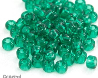 11/0 Transparent Emerald Japanese Seed Bead (40 gm) #JAJ016