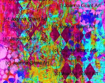 INSTANT Download GELLI PRINTS Mixed Media Art Journal Elements Monoprint