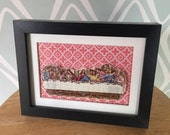 RESERVED Recycled China Cut Out Last Supper