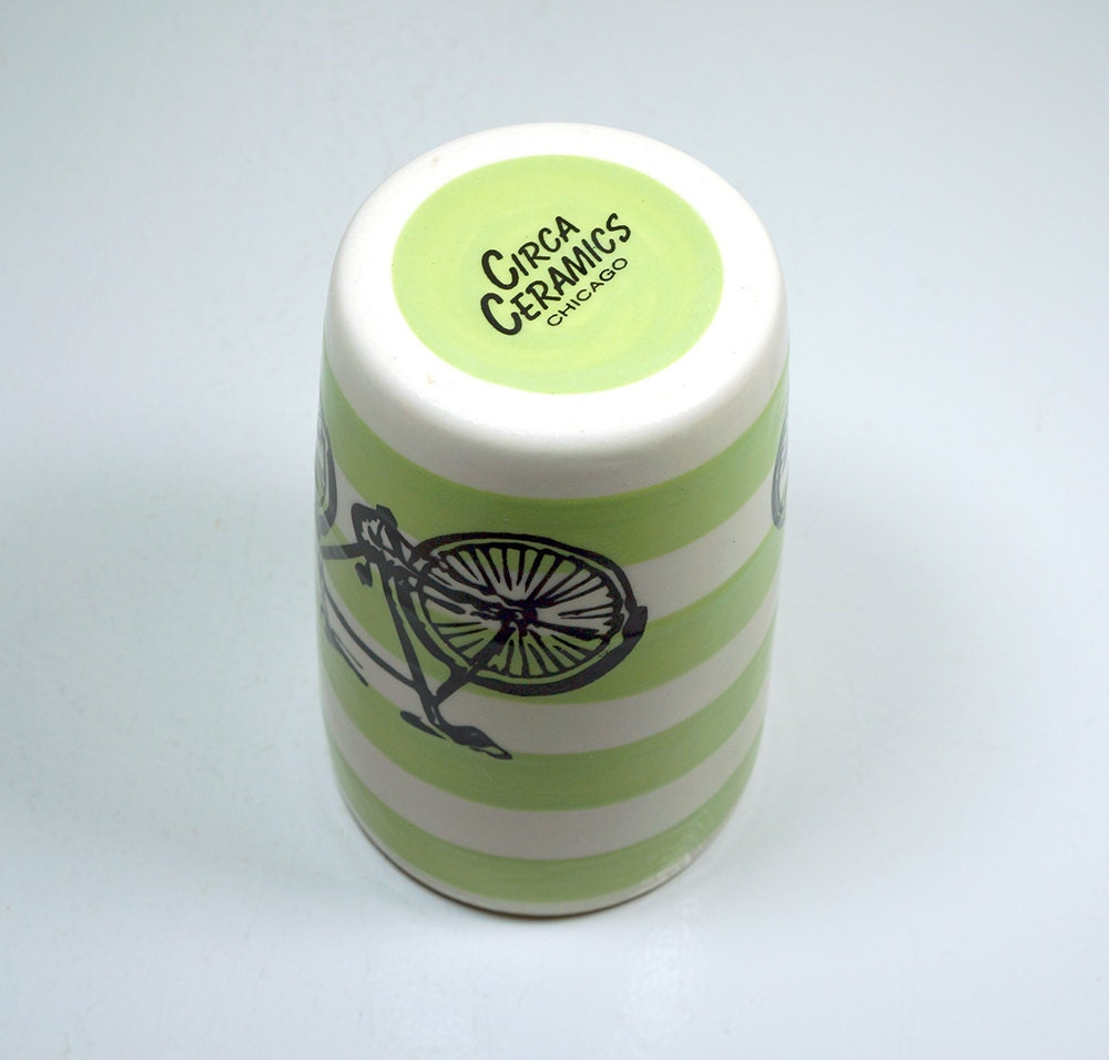 18oz tumbler with a dusty road bike on tinda stripes, made to order / pick your colour