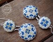 Portuguese tile earrings, Spanish tile earrings, dangle earrings, statement earrings, azulejos tiles, Ethnic jewelry, Folk art jewelry