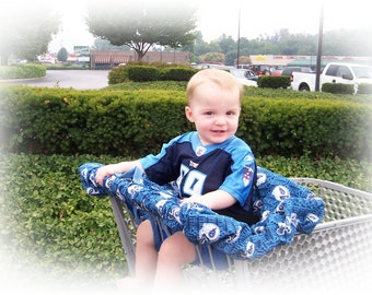 Shopping Cart Cover-Denim Baby Infant Germ Free Buggy