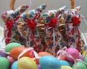 BABY BUNNY Tuckins, Set of 4 Bunny Tucks, Easter Bunny, Bunny Ornament, Bunny Decoration, Easter Ornament, Easter Decoration, Stuffed BunnY