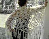 White shawl, crocheted shawl,bridal, lace shawl, bridal, wedding, capelet, poncho, shrug, stole