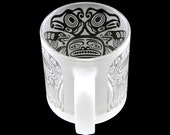 Thunderbird Coffee Cup - Etched Glass Mug