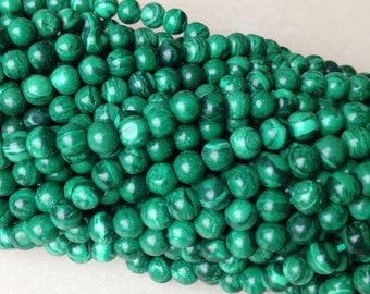 4mm Malachite Beads, natural malachite beads, 4mm gemstone beads, full strand, half strand also available, shipping from only 2.95!