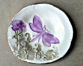 Small Ceramic Dragonfly Ring Dish
