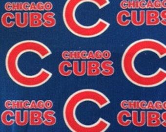 Baby Burp Cloth Made with Chicago Cubs Baseball MLB fabric Boy Girl