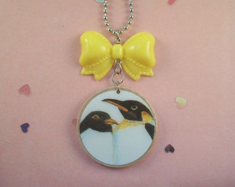 Penguin Bow Necklace