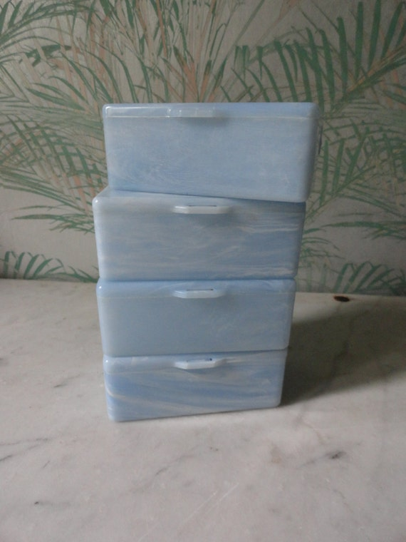 Acrylic Trinket Boxes : Marble look plastic trinket boxes set of