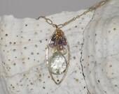Gold &  Gemstone Pendant Necklace