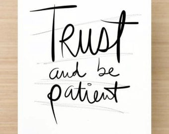 Trust and be patient - Inspirational Postcard (Set of 5)