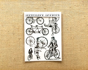 Bicycles Temporary Tattoos
