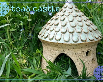 Toad House - Fairy House - Toad Abode - Night Light - Castle - Water Feature - Pond - Outdoor
