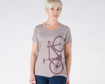 VITAL BIKE XLARGE Women's Marsala Scoop Neck Bicycle Tshirt xl