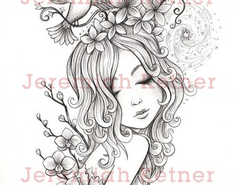 fine art coloring pages - jeremiah ketner fine art by smallandround on etsy