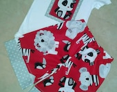 Boutique Custom Boy ZOO ANIMALS summer shorts outfit! Sz 12-18 months! Shorts and onesie shirt! Ready to ship!