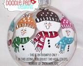 CUSTOM Snowman Ornament - Personalized Family Ornament