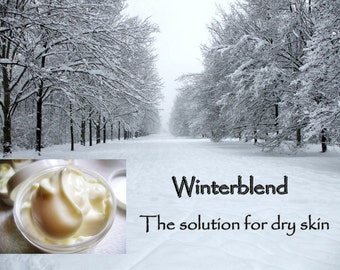 4 oz Winterblend Shea Butter Cream - In a Jar for Dry and Sensitive Skin