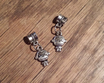 dangle kawaii monkey beads